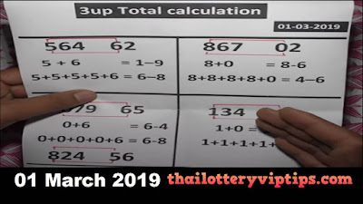Thailand lottery sure winning number in Saudi Arabia 01 March 2019