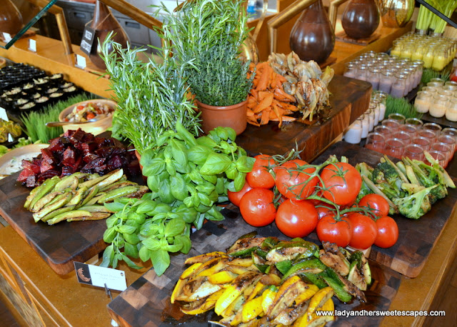 grilled vegetables in Liwan Rotana