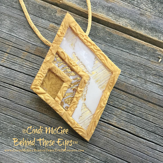 Cindi mcgee behind these eyes golden diamonds polymer clay golden diamonds polymer clay pendants tutorial aloadofball Images