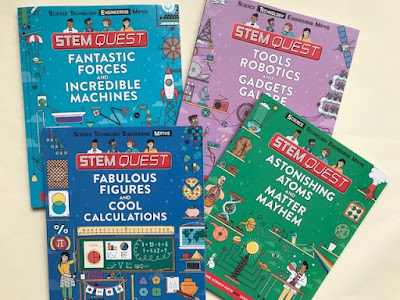 STEM Quest books from Carlton books