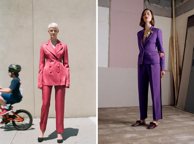 Розовый и фиолетовый костюм