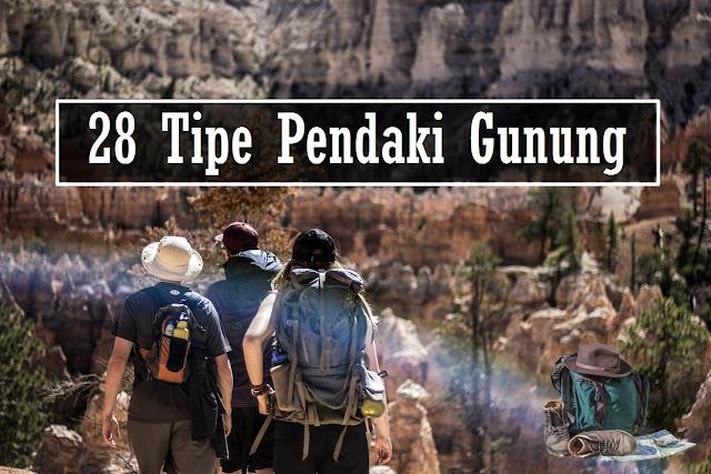 tipe pendaki gunung indonesia