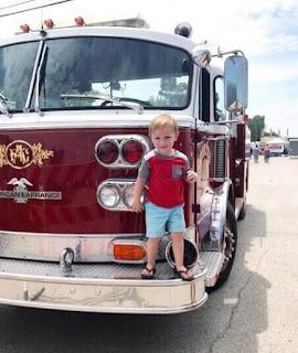 Firetruck at Porter Peach festival in Porter, OK