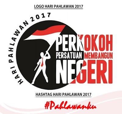 Logo dan Hastag Peringatan Hari Pahlawan 2017