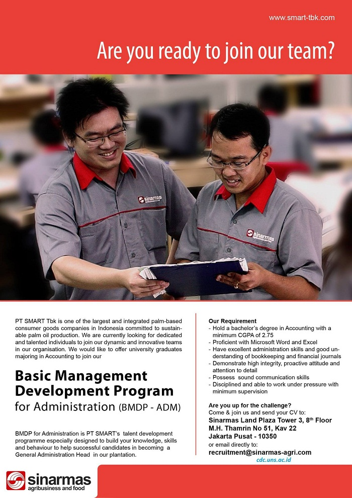 Recuritment Basic Management Development Program PT Smart Tbk