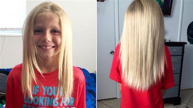 Christian McPhilamy Long Hair To Donate Cancer Patient Wig