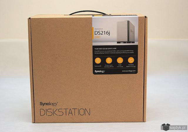 Synology DS216j w pudełku