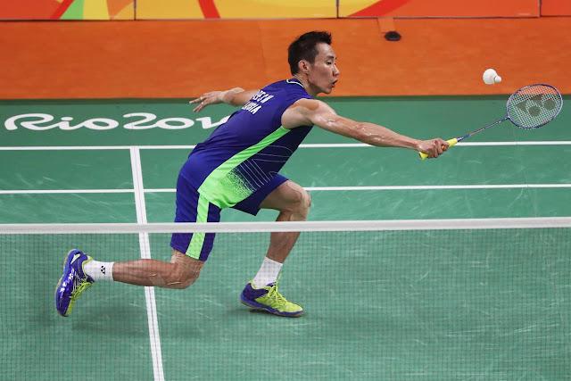 Aksi Datuk Lee Chong Wei di Final Olimpik Rio 2016