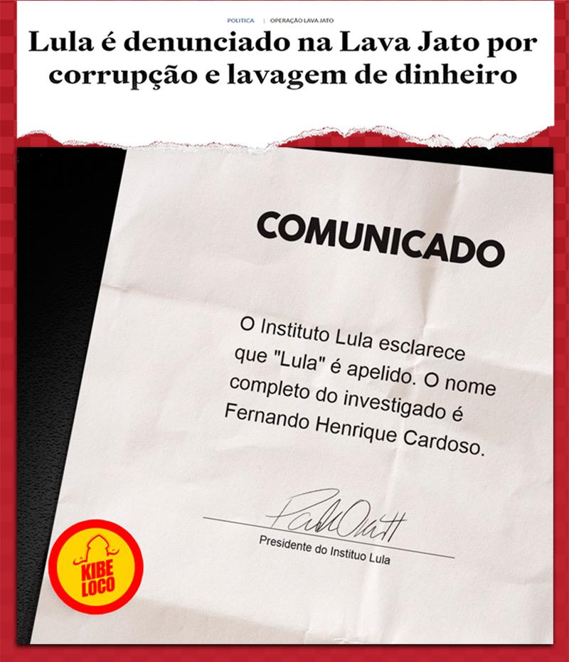 Imagens zuando o Lula