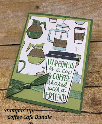 Coffee Break paper with the Coffee Cafe Bundle from Stampin' up! by Kay Kalthoff of Stamping to Share.