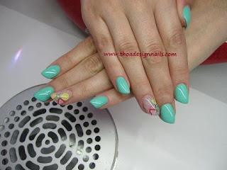 Mint Früchte nail