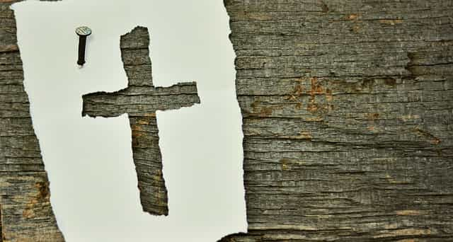 cross on a tree