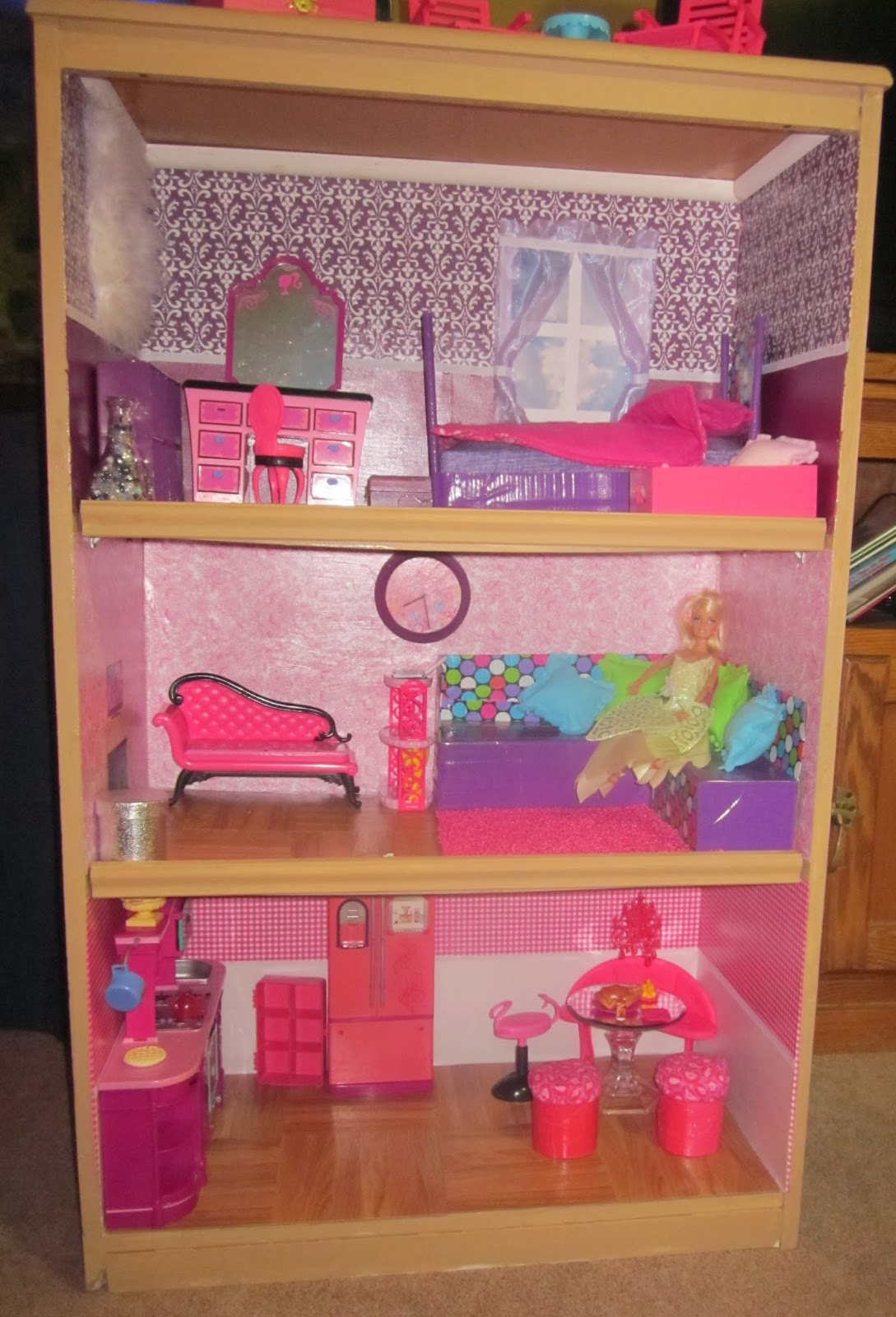 Project Bon Bon From Bookcase To Barbie House