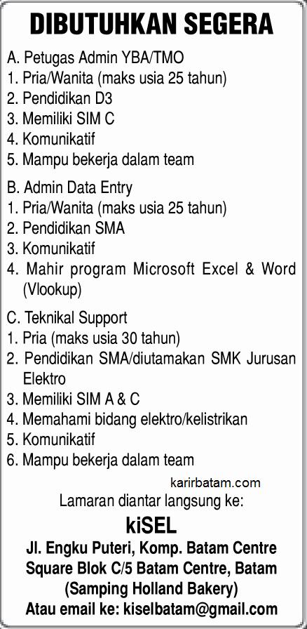 Lowongan Kerja PT. KiSel Telkomsel