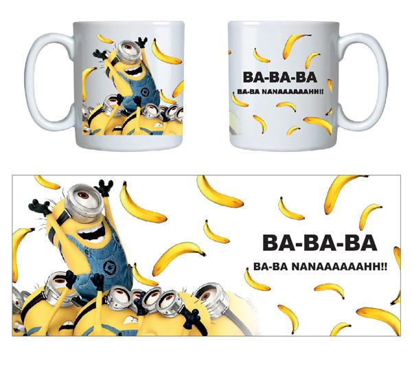 caneca criativa minions banana