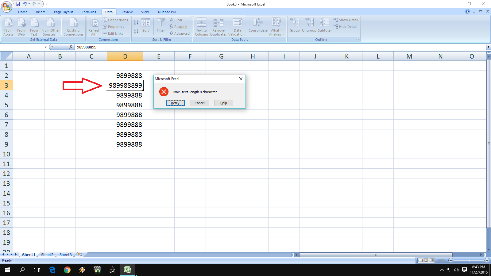 Learn New Things How To Add Error Message In Ms Excel