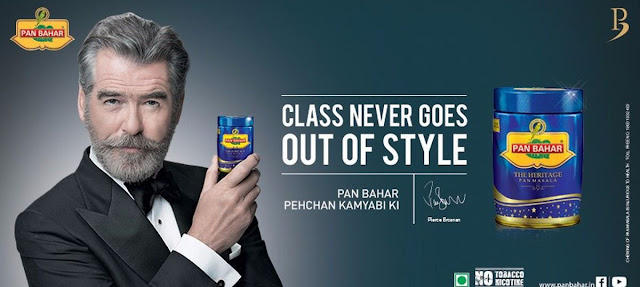 Pierce Brosnan Endorses Pan Bahar
