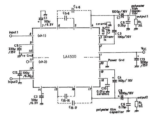 AmplifierCircuits.com: LA4500