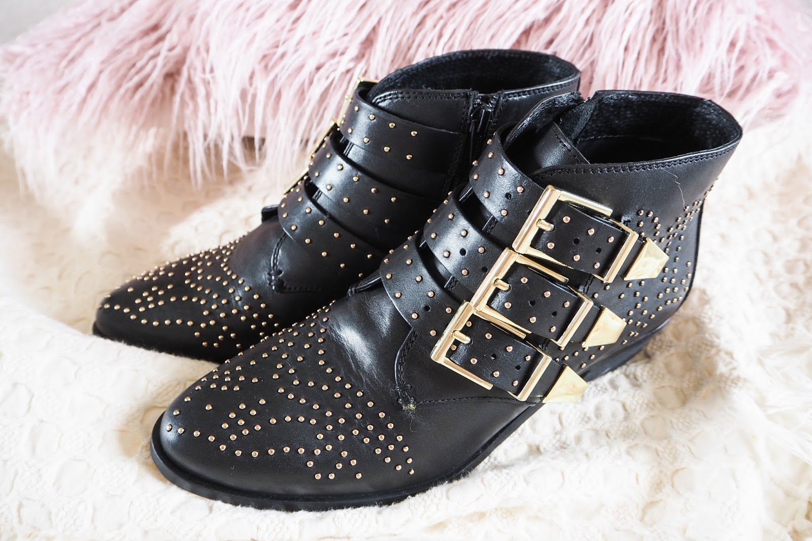 Buckles and studded detailing on the Office Lucky Charm boots