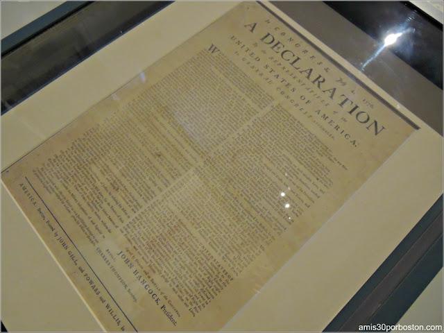 Reproducción de la Declaración de Independencia de Estados Unidos