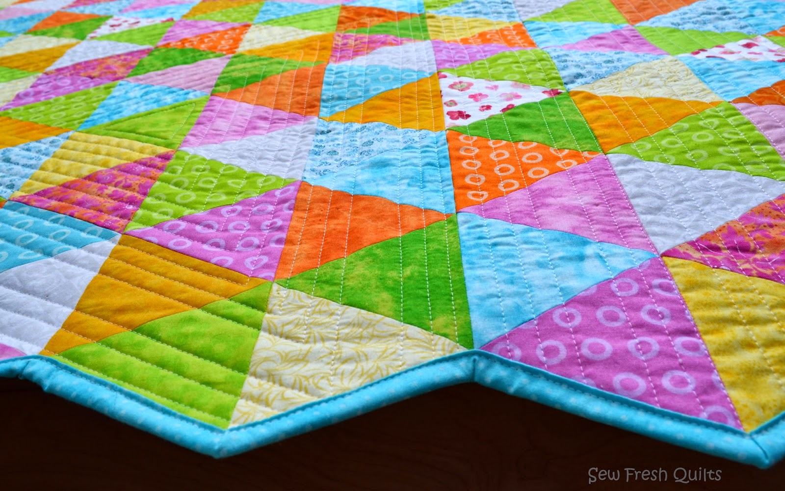 Sew Fresh Quilts: Equilateral Triangle Quilt - Finished! : how to quilt triangles - Adamdwight.com