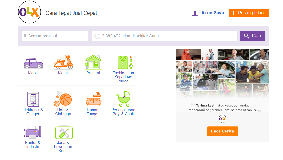 Review Web Olx Indonesia - Tulisan Awal fc8457bc97