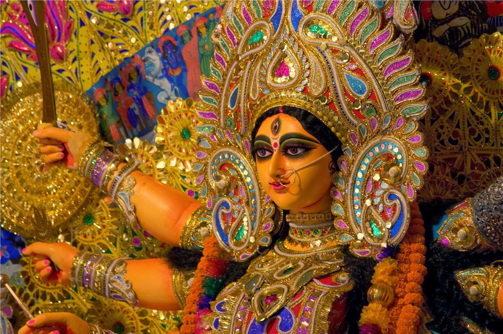Durga Puja Hd Wallpaper: Durga Ashtami HD Wallpapers Download