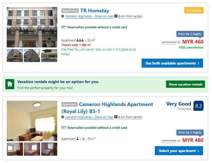 Pengalaman Pertama Booking.com Tempah Apartment
