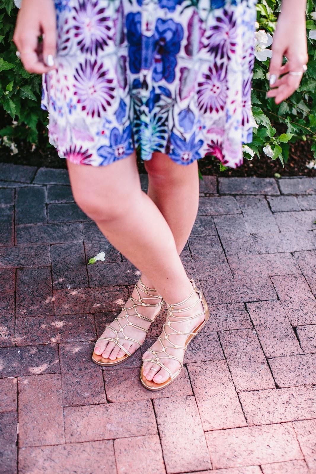 Gold Sandals, Summer Sandals