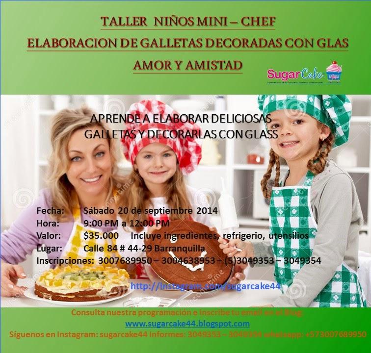 Sugar Cake Kitchen Colombia Mañana Sabado Curso Niños Mini