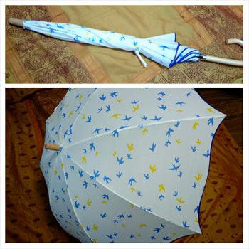 ツバメ柄の日傘