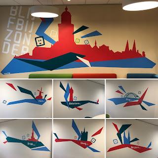 8 muurschilderingen voor Accare Deventer