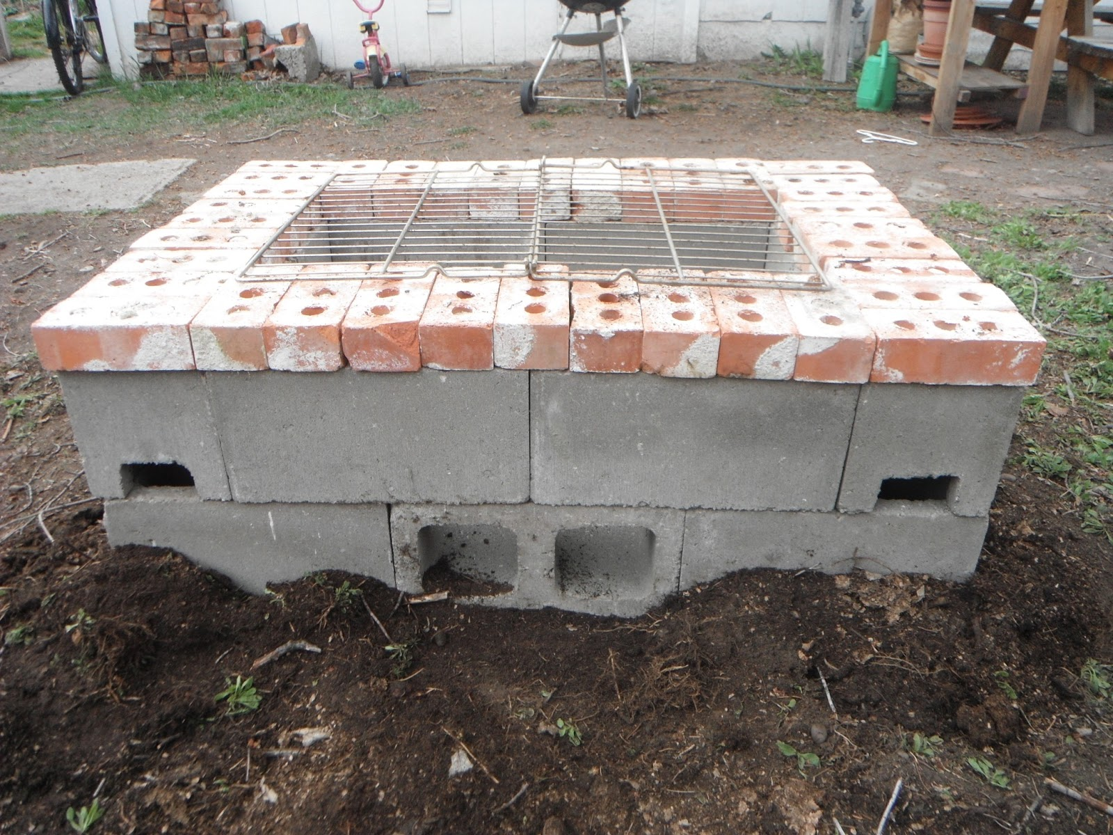 "Happy Occidents: ""I made that Mama!"" aka Our New (DIY ... on Cinder Block Fireplace Diy  id=61002"