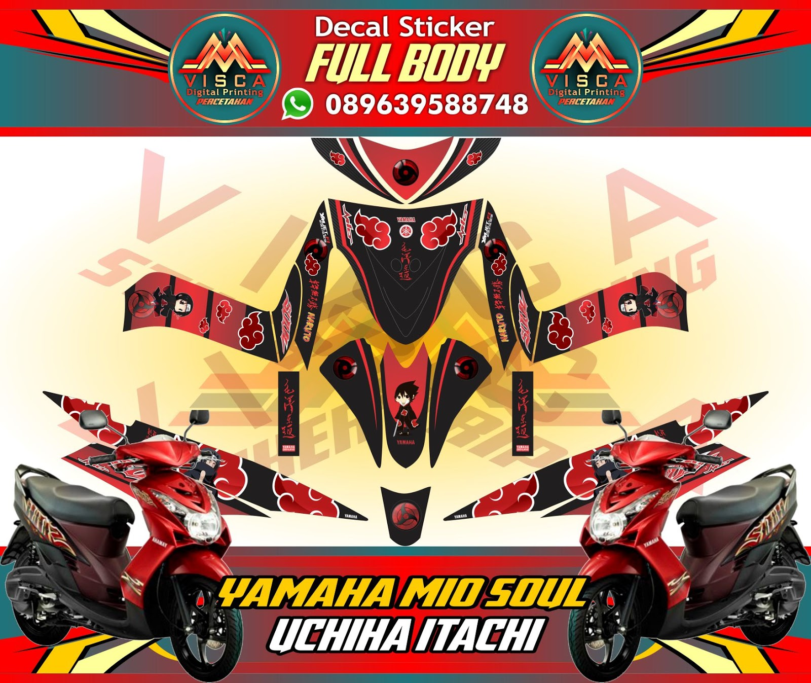 Decal stiker motor full body yamaha mio soul posted by m visca computer at 23 28