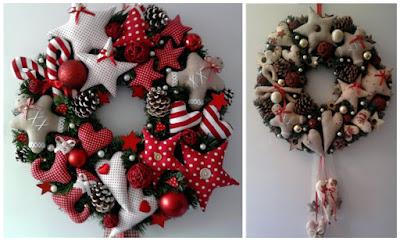 9 moldes para hacer bonitos adornos navide os en fieltro - Coronas navidenas de fieltro ...