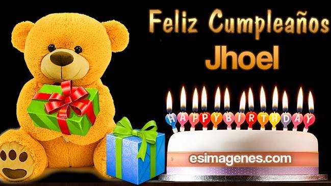 Feliz Cumpleaños Jhoel