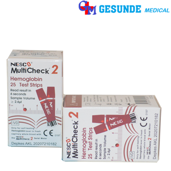 strip tes hemoglobin nesco multicheck