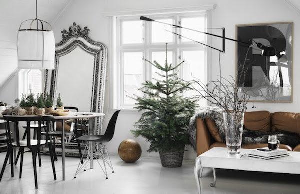 Un Nol nature dans une maison norvgienne