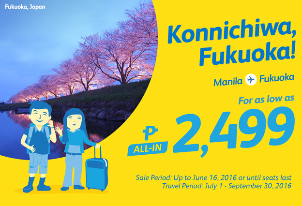 Promo Fare to Fukuoka Japan 2499 Only