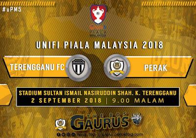 Live Streaming Terengganu vs Perak Piala Malaysia 2 September 2018