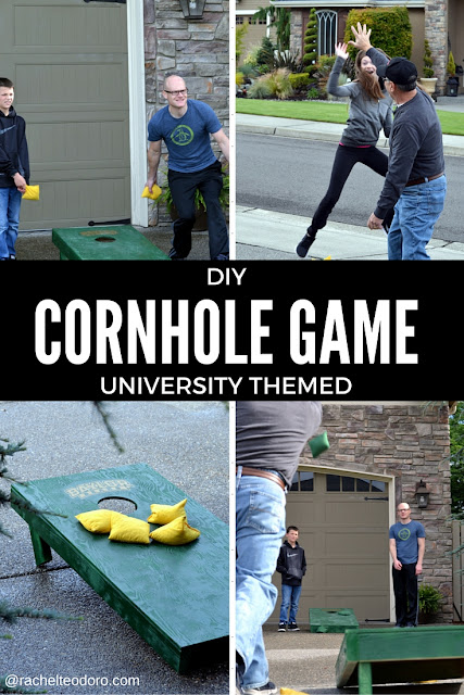 Baylor university corn hole game, bean bag toss, spray shelter, homeright