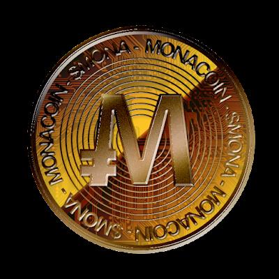 暗号通貨モナコイン裏面のフリー素材(銅貨ver)