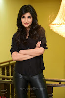 Shruti Haasan Looks Stunning trendy cool in Black relaxed Shirt and Tight Leather Pants ~ .com Exclusive Pics 024.jpg