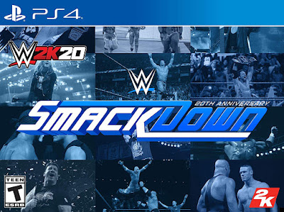 Wwe 2k20 Game Cover Ps4 Smackdown 20th Anniversary Edition