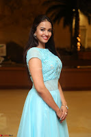 Pujita Ponnada in transparent sky blue dress at Darshakudu pre release ~  Exclusive Celebrities Galleries 008.JPG