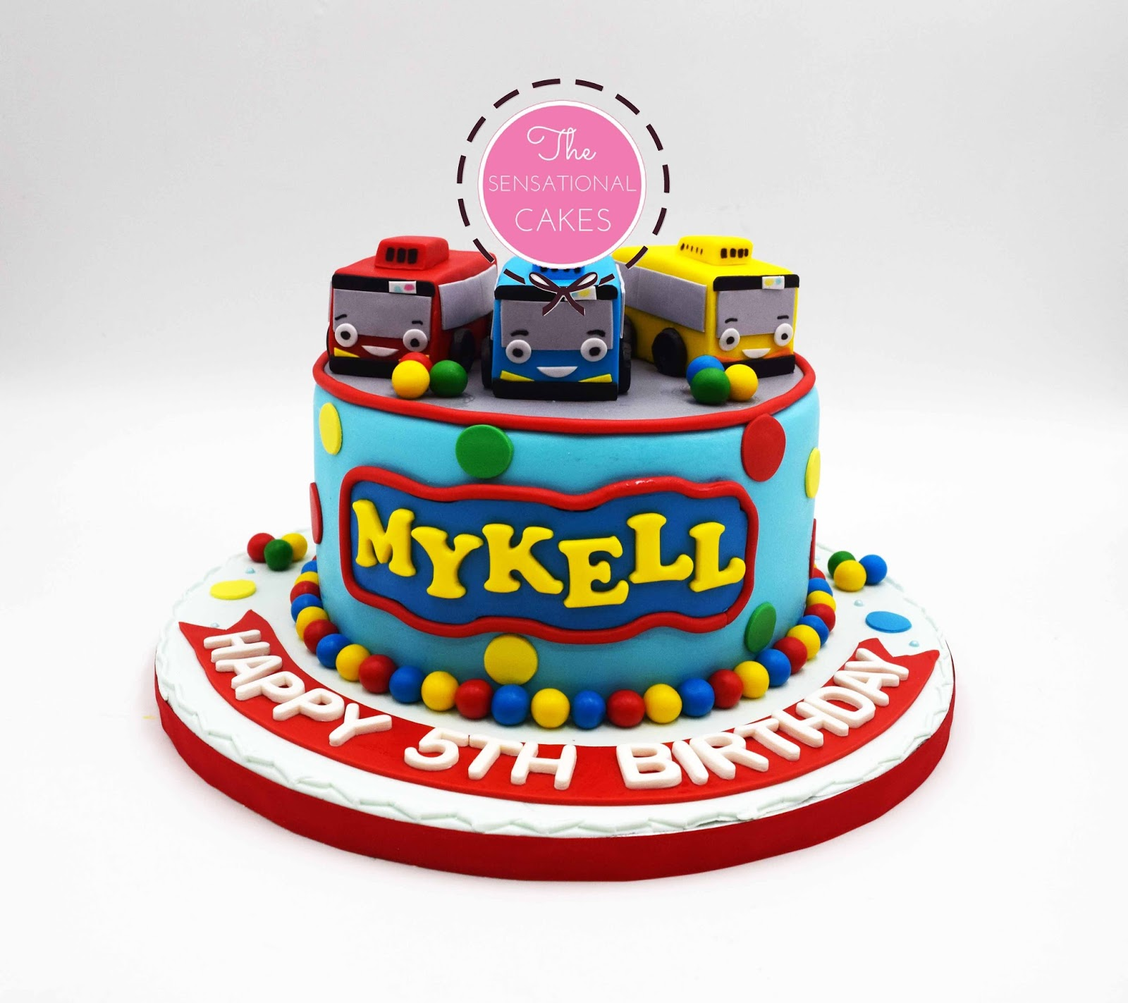 Awesome Tayo Bus Birthday Cake The Cake Boutique Funny Birthday Cards Online Barepcheapnameinfo
