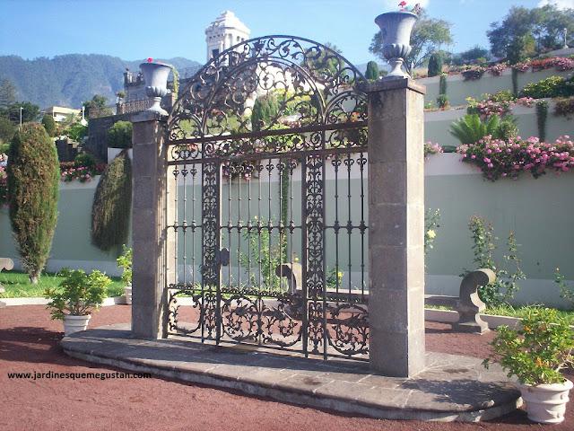 Jardín del Marquesado de la Quinta Roja en la Orotava.