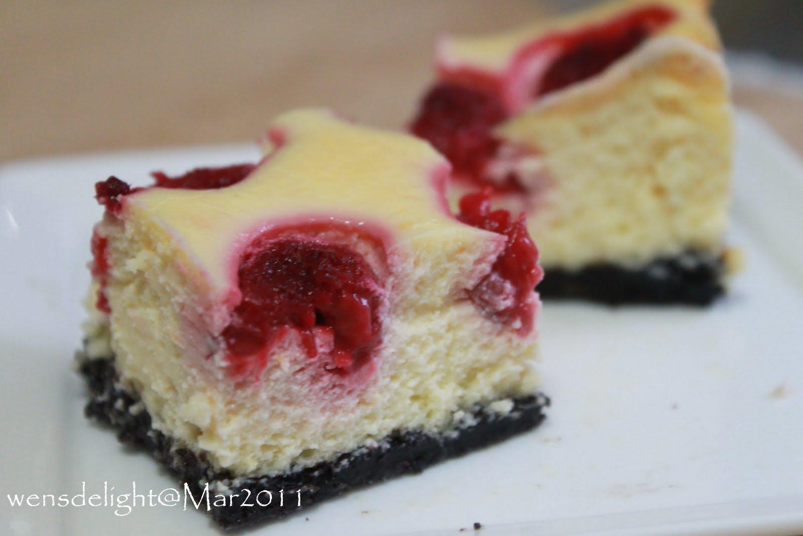 Wen S Delight Raspberry Cheesecake Slice
