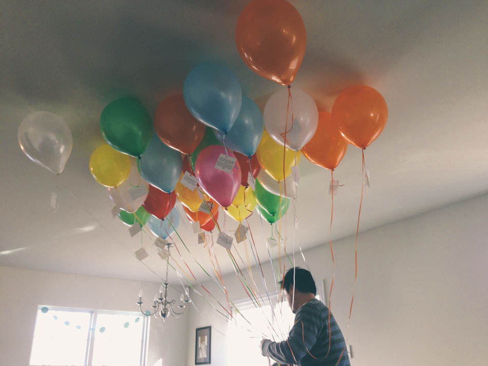 Popped Before Ken Got Home But When I Saw His Reaction To The Balloons And All Notes It Was TOTALLY Worth Love Him So Happy Birthday