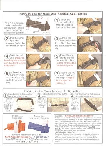 Инструкция по использованию жгута CAT